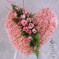 kalp pano karankil ve güller   Adıyaman internetten çiçek siparişi