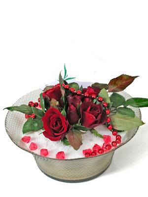 Adıyaman çiçek siparişi vermek  EN ÇOK Sevenlere 7 adet kirmizi gül mika yada cam tanzim