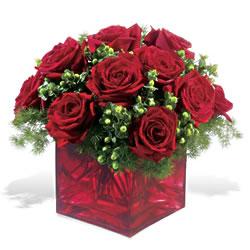 Adıyaman çiçek yolla  9 adet kirmizi gül cam yada mika vazoda