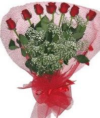 7 adet kipkirmizi gülden görsel buket  Adıyaman çiçek mağazası , çiçekçi adresleri