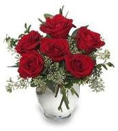 Vazo içerisinde 5 adet kırmızı gül  Adıyaman çiçekçi mağazası