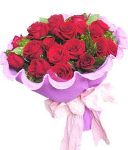 12 adet kırmızı gülden görsel buket  Adıyaman çiçekçi mağazası