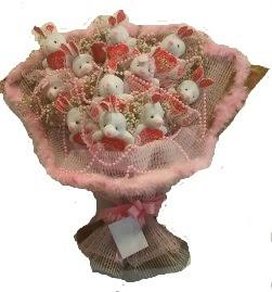 12 adet tavşan buketi  Adıyaman çiçek mağazası , çiçekçi adresleri