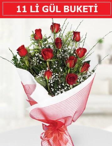11 adet kırmızı gül buketi Aşk budur  Adıyaman çiçek gönderme sitemiz güvenlidir