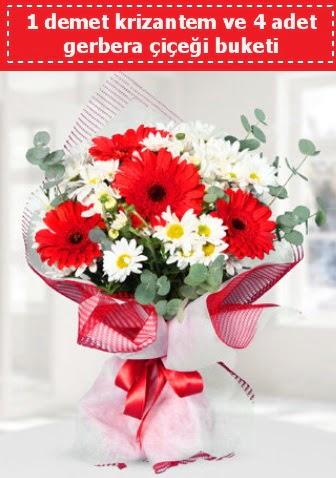 Krizantem ve Gerbera Buketi  Adıyaman çiçek siparişi sitesi