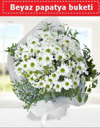 Beyaz Papatya Buketi  Adıyaman 14 şubat sevgililer günü çiçek