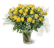 Adıyaman çiçek siparişi sitesi  15 adet sarigül mika yada cam vazoda