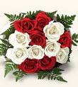 Adıyaman çiçek , çiçekçi , çiçekçilik  10 adet kirmizi beyaz güller - anneler günü için ideal seçimdir -