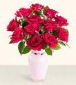 Adıyaman hediye çiçek yolla  10 kirmizi gül cam yada mika vazo tanzim