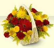 Adıyaman 14 şubat sevgililer günü çiçek  sepette mevsim çiçekleri