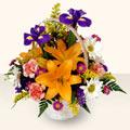 Adıyaman 14 şubat sevgililer günü çiçek  sepet içinde karisik çiçekler