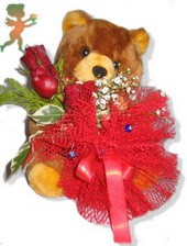 oyuncak ayi ve gül tanzim  Adıyaman çiçekçiler