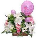 balon ve çiçeklerle tanzim  Adıyaman internetten çiçek satışı