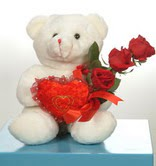 3 adetgül ve oyuncak   Adıyaman online çiçekçi , çiçek siparişi