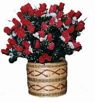 yapay kirmizi güller sepeti   Adıyaman kaliteli taze ve ucuz çiçekler