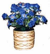 yapay mavi çiçek sepeti  Adıyaman cicekciler , cicek siparisi