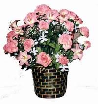 yapay karisik çiçek sepeti  Adıyaman çiçek online çiçek siparişi