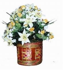 yapay karisik çiçek sepeti   Adıyaman cicekciler , cicek siparisi