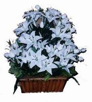yapay karisik çiçek sepeti   Adıyaman online çiçek gönderme sipariş