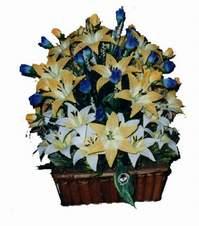 yapay karisik çiçek sepeti   Adıyaman çiçek gönderme