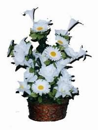 yapay karisik çiçek sepeti  Adıyaman çiçek siparişi vermek