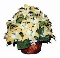 yapay karisik çiçek sepeti   Adıyaman çiçek siparişi sitesi