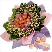 11  adet  gül ve   elyaflar   Adıyaman çiçekçi mağazası