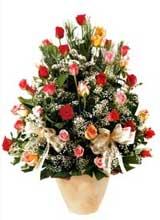 91 adet renkli gül aranjman   Adıyaman çiçek gönderme sitemiz güvenlidir