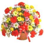 karisik renkli çiçek sepet   Adıyaman çiçek gönderme sitemiz güvenlidir