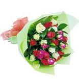 12 adet renkli gül buketi   Adıyaman çiçek gönderme sitemiz güvenlidir