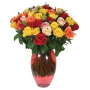 51 adet gül ve kaliteli vazo   Adıyaman çiçek gönderme sitemiz güvenlidir