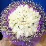71 adet beyaz gül buketi   Adıyaman çiçek , çiçekçi , çiçekçilik