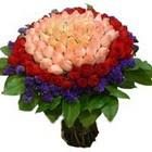 71 adet renkli gül buketi   Adıyaman ucuz çiçek gönder