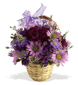Adıyaman uluslararası çiçek gönderme  sepet içerisinde krizantem çiçekleri