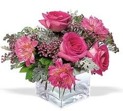 Adıyaman cicekciler , cicek siparisi  cam içerisinde 5 gül 7 gerbera çiçegi