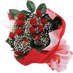 Adıyaman internetten çiçek satışı  KIRMIZI AMBALAJ BUKETINDE 12 ADET GÜL