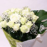 Adıyaman hediye çiçek yolla  11 adet sade beyaz gül buketi