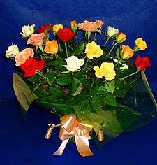 Adıyaman hediye çiçek yolla  13 adet karisik renkli güller