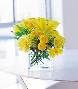 Adıyaman ucuz çiçek gönder  sarinin sihri cam içinde görsel sade çiçekler