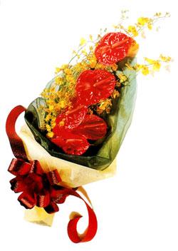 özel 5 adet antorium buketi   Adıyaman çiçek gönderme sitemiz güvenlidir