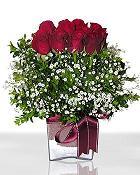 Adıyaman çiçek , çiçekçi , çiçekçilik  11 adet gül mika yada cam - anneler günü seçimi -