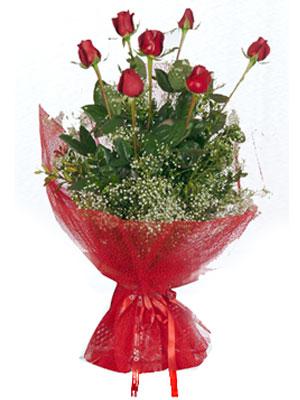 Adıyaman çiçek servisi , çiçekçi adresleri  7 adet gülden buket görsel sik sadelik