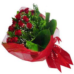 Adıyaman kaliteli taze ve ucuz çiçekler  12 adet kirmizi essiz gül buketi - SEVENE ÖZEL