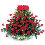 Adıyaman kaliteli taze ve ucuz çiçekler  41 adet kirmizi gülden sepet tanzimi