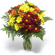 Adıyaman çiçek siparişi sitesi  Karisik çiçeklerden mevsim vazosu