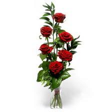 Adıyaman uluslararası çiçek gönderme  mika yada cam vazoda 6 adet essiz gül