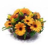 gerbera ve kir çiçek masa aranjmani  Adıyaman çiçek siparişi vermek