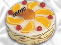 lezzetli pasta satisi 4 ile 6 kisilik yas pasta portakalli pasta  Adıyaman çiçekçi mağazası