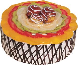 pasta siparisi 4 ile 6 kisilik meyvali yas pasta  Adıyaman çiçek satışı