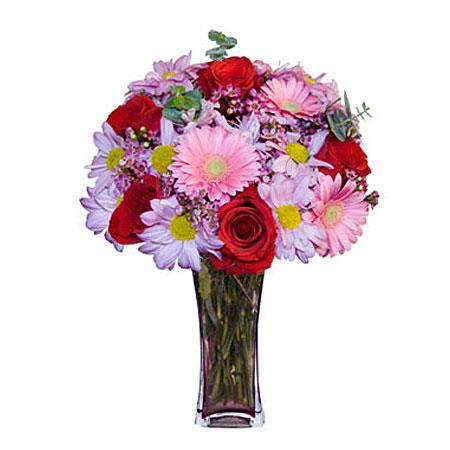 Görsel hediye karisik cam mevsim demeti  Adıyaman çiçekçi mağazası